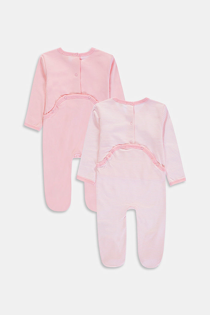2-pack of rompers with organic cotton, BLUSH, detail image number 1