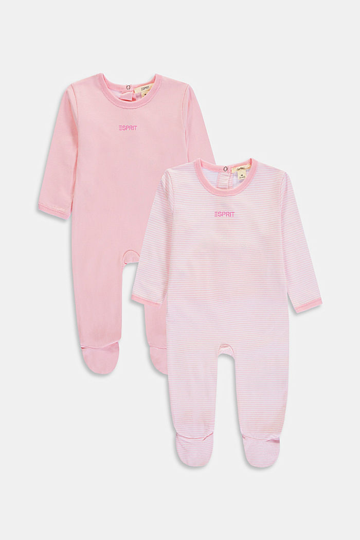 2-pack of rompers with organic cotton, BLUSH, detail image number 0