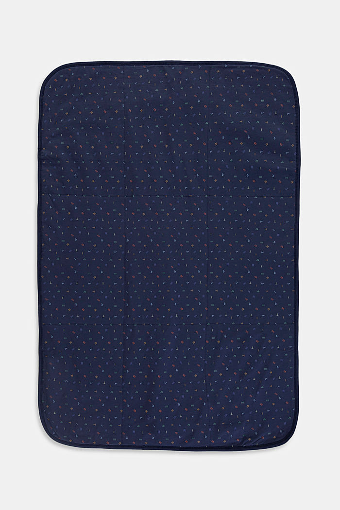 Babydecke aus Organic Cotton, DARK BLUE, overview