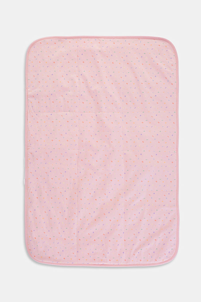 Organic cotton baby blanket, BLUSH, detail image number 1