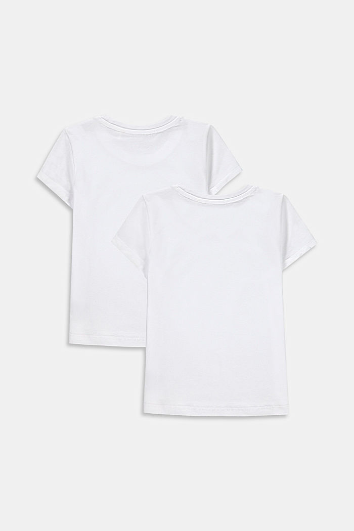 Lot de 2 t-shirts en coton stretch