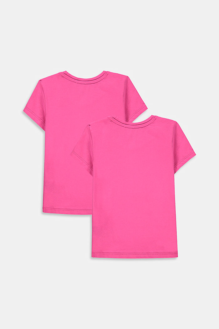 Set van 2 T-shirts van katoen met stretch, PINK, detail image number 1