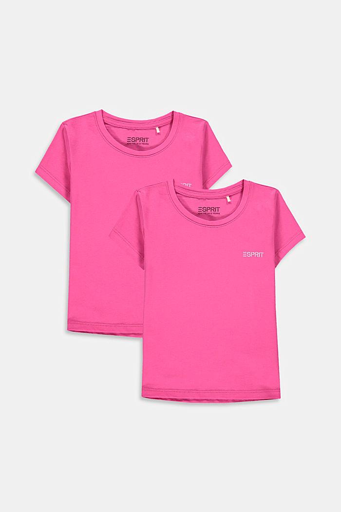 Set van 2 T-shirts van katoen met stretch, PINK, detail image number 0