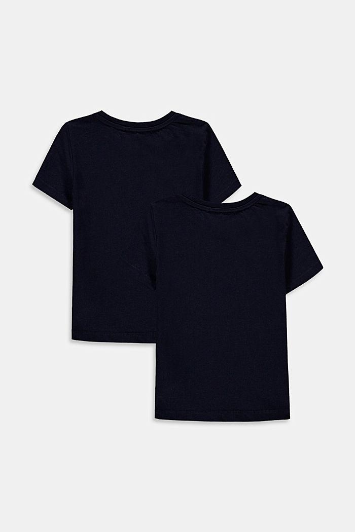 2-er-Pack T-Shirts aus 100% Baumwolle, NAVY, detail image number 1
