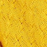 Textured scarf made of 100% organic cotton, BRASS YELLOW, swatch