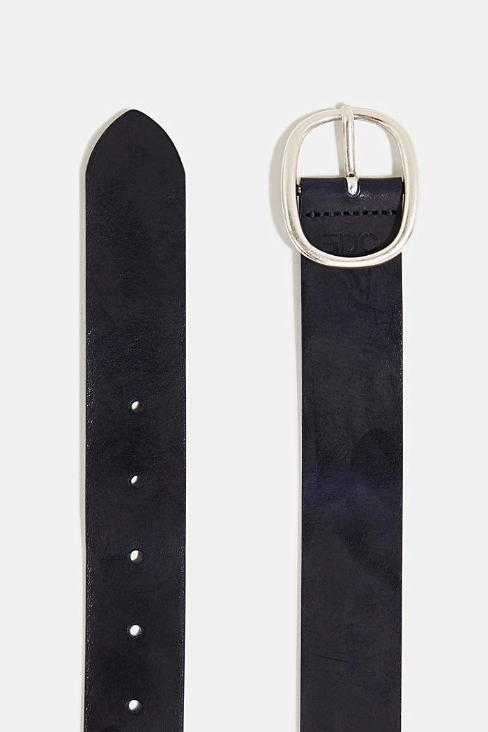 Gürtel aus Leder, NAVY, detail image number 1