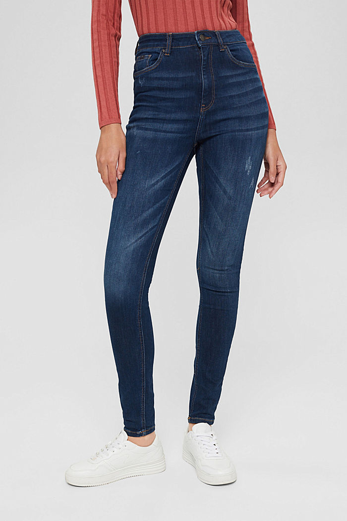 Superstretch-Jeans, Organic Cotton, BLUE DARK WASHED, detail image number 0