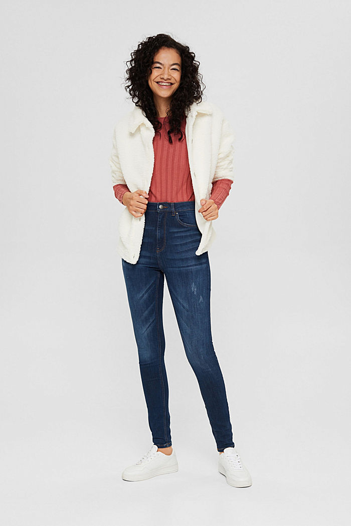 Jeans met superstretch, organic cotton