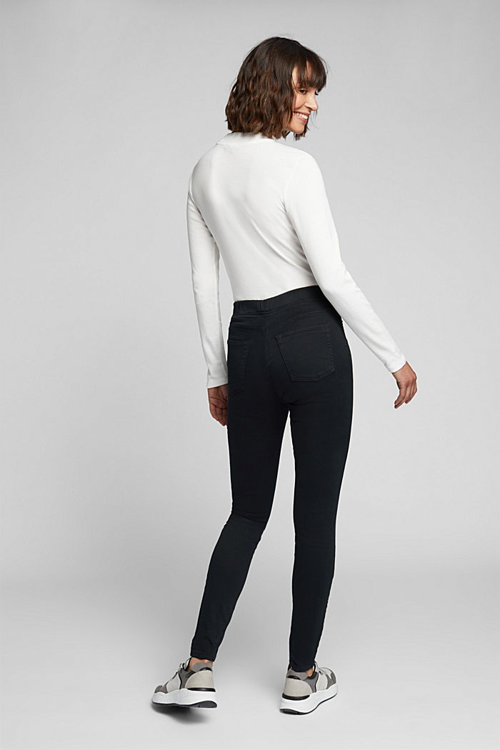 Treggings with an elasticated waistband, BLACK, detail image number 3