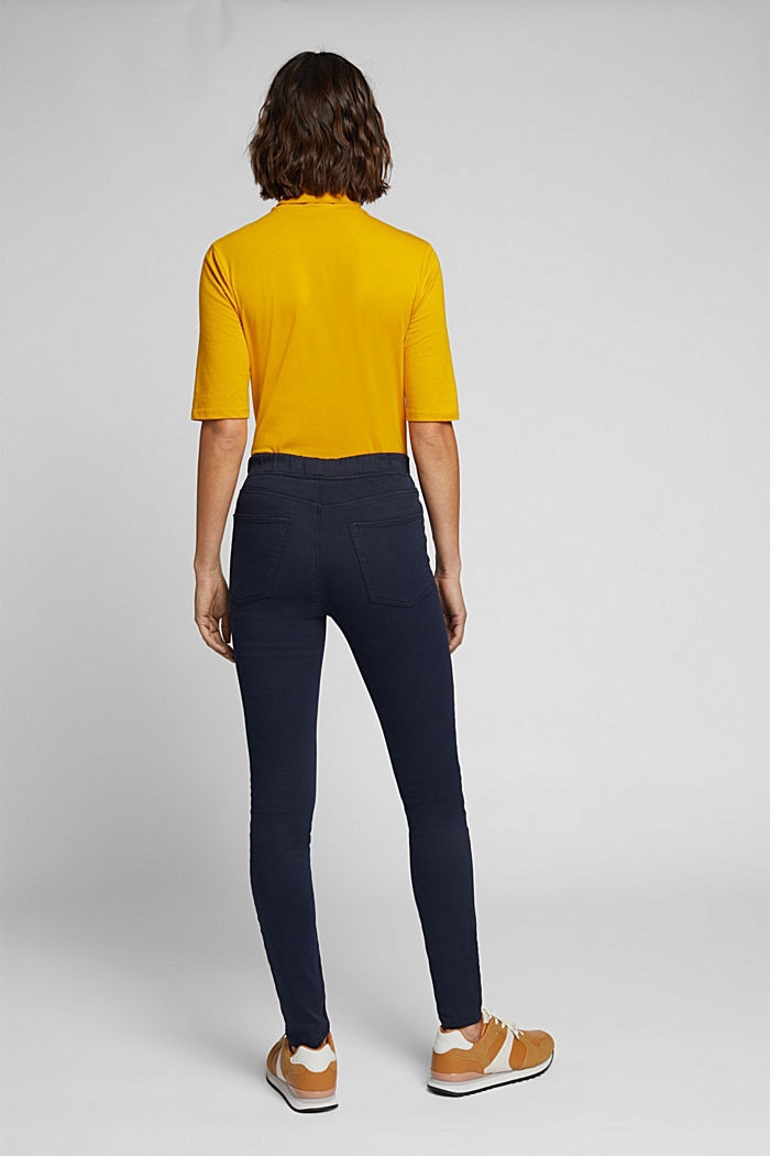 Treggings with an elasticated waistband, NAVY, detail image number 3