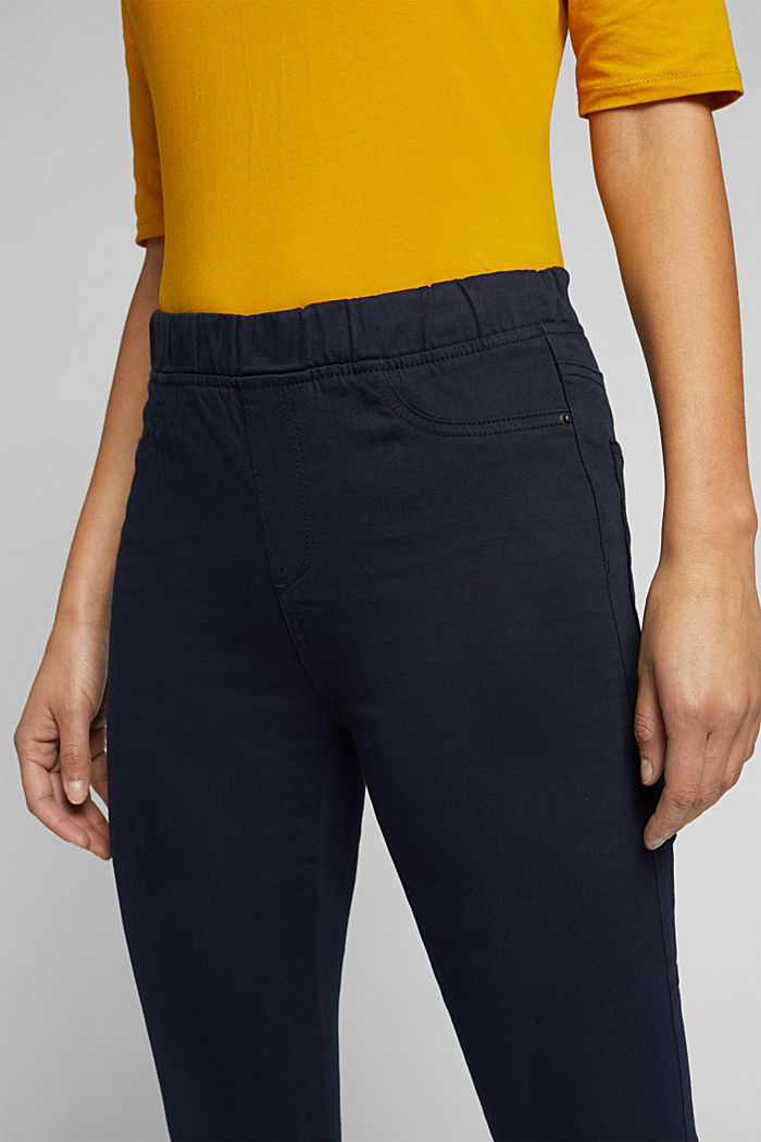 Treggings with an elasticated waistband, NAVY, detail image number 2