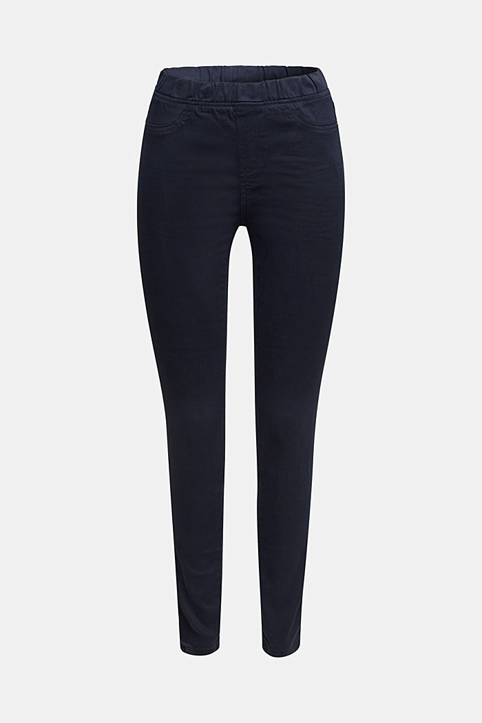 Treggings with an elasticated waistband, NAVY, detail image number 6