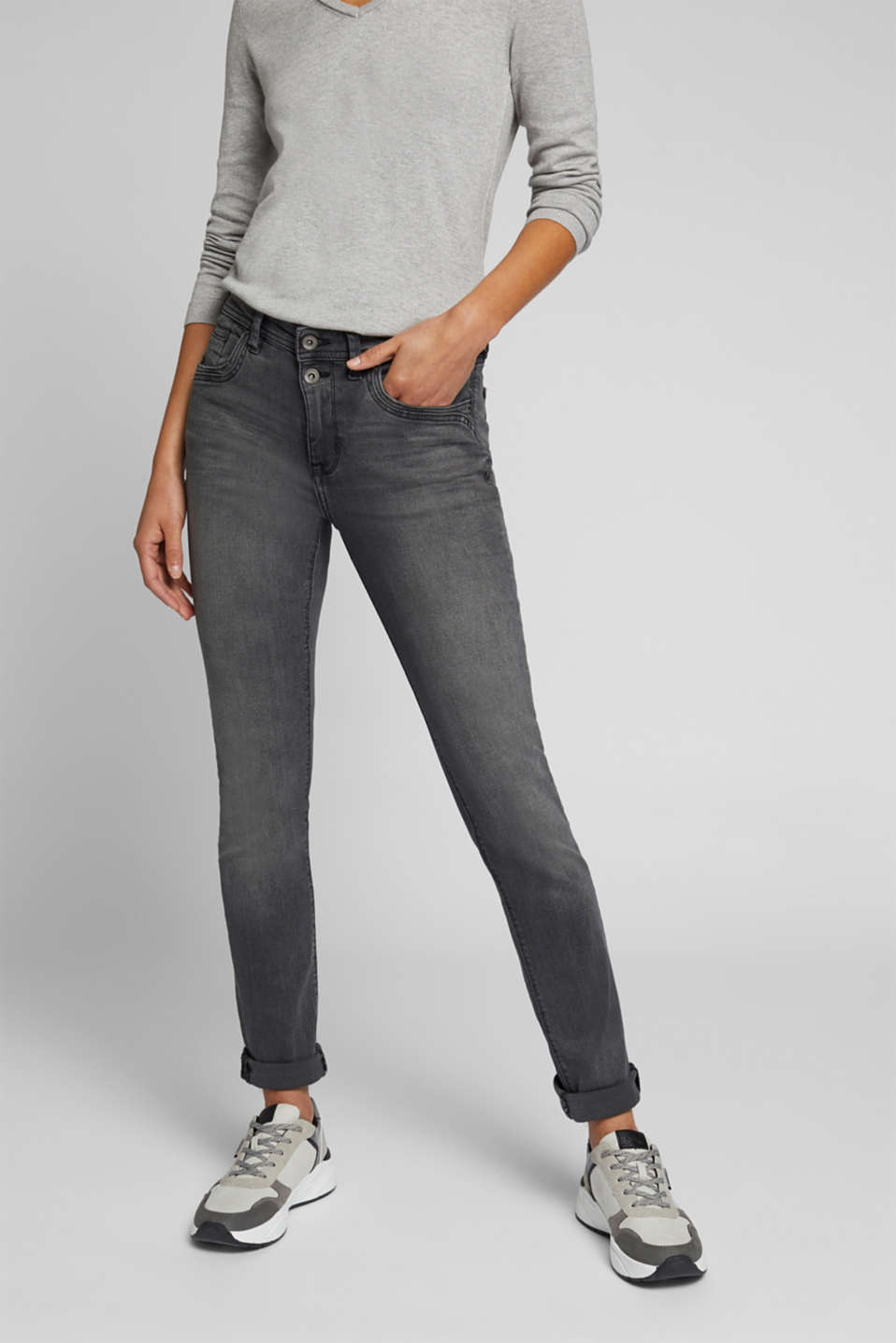 edc - Two-button jeans with organic cotton
