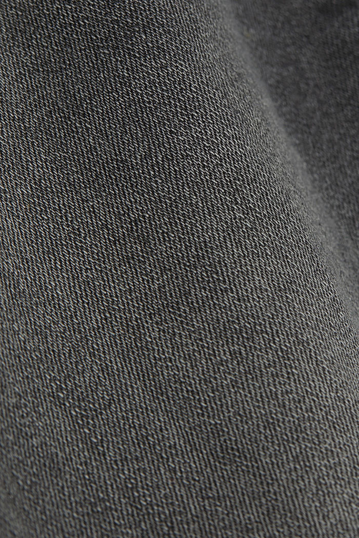 Two-button jeans with organic cotton, BLACK MEDIUM WASHED, detail image number 4