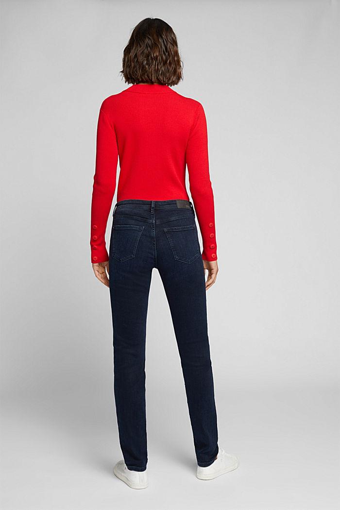 Jeans met 2 knopen en organic cotton, BLUE BLACK, detail image number 3