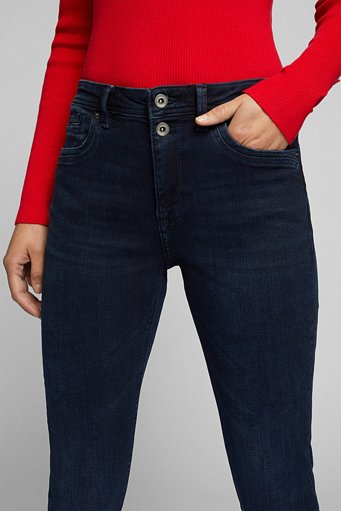 Two-button jeans with organic cotton, BLUE BLACK, detail image number 2