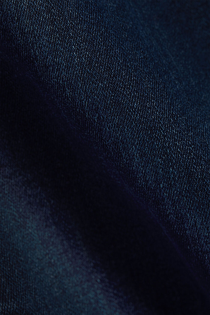 Jeans a 2 bottoni con cotone biologico, BLUE BLACK, detail image number 4