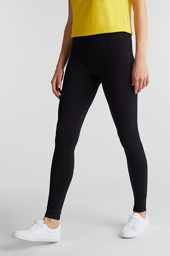 Leggings with organic cotton, BLACK, detail image number 0
