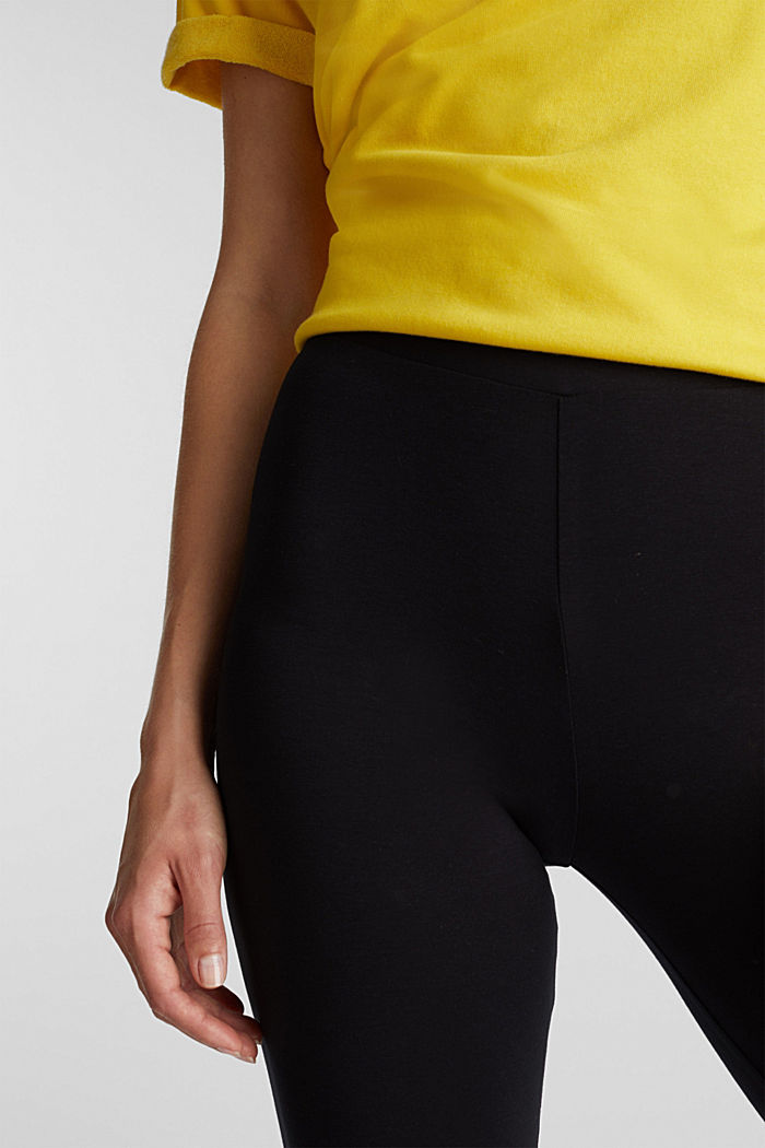 Leggings with organic cotton, BLACK, detail image number 2