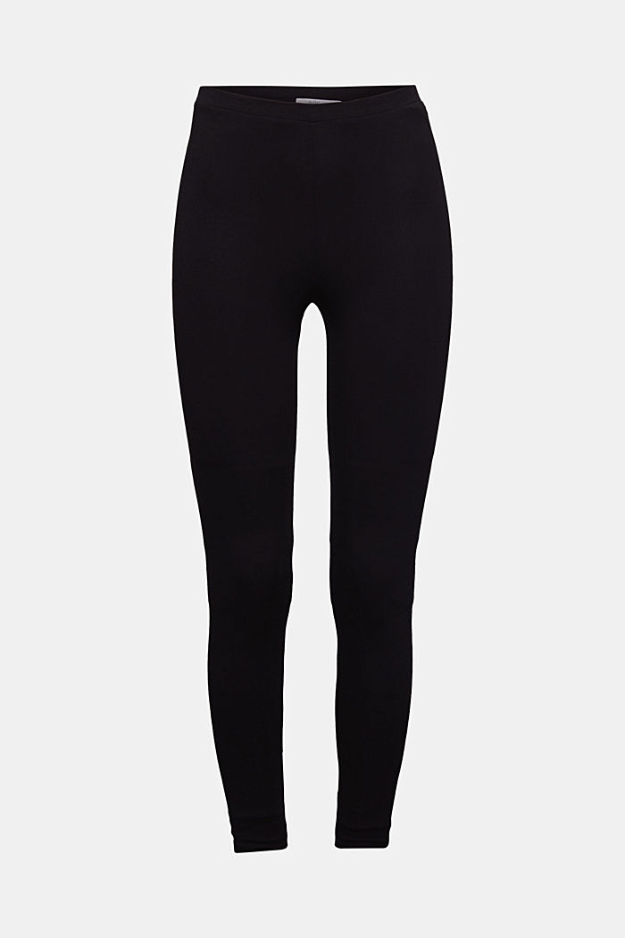 Leggings with organic cotton, BLACK, detail image number 6
