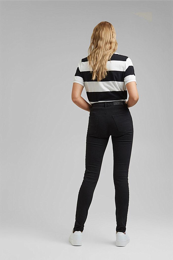 Pantalon stretch à teneur en coton biologique, BLACK, detail image number 3