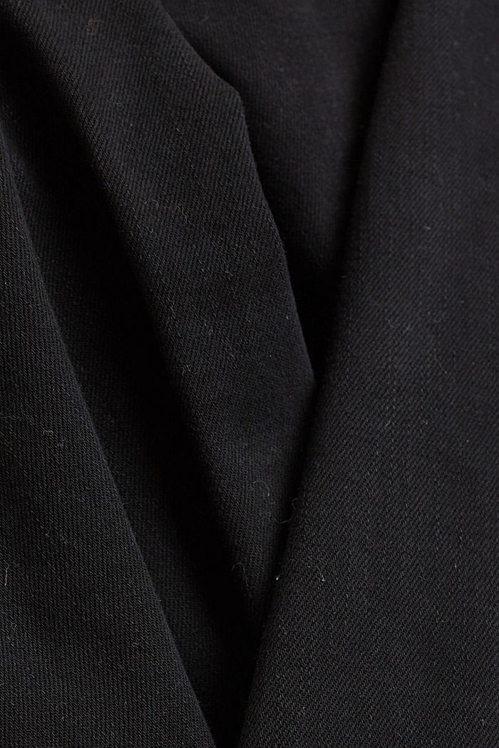 Pantalon stretch à teneur en coton biologique, BLACK, detail image number 4