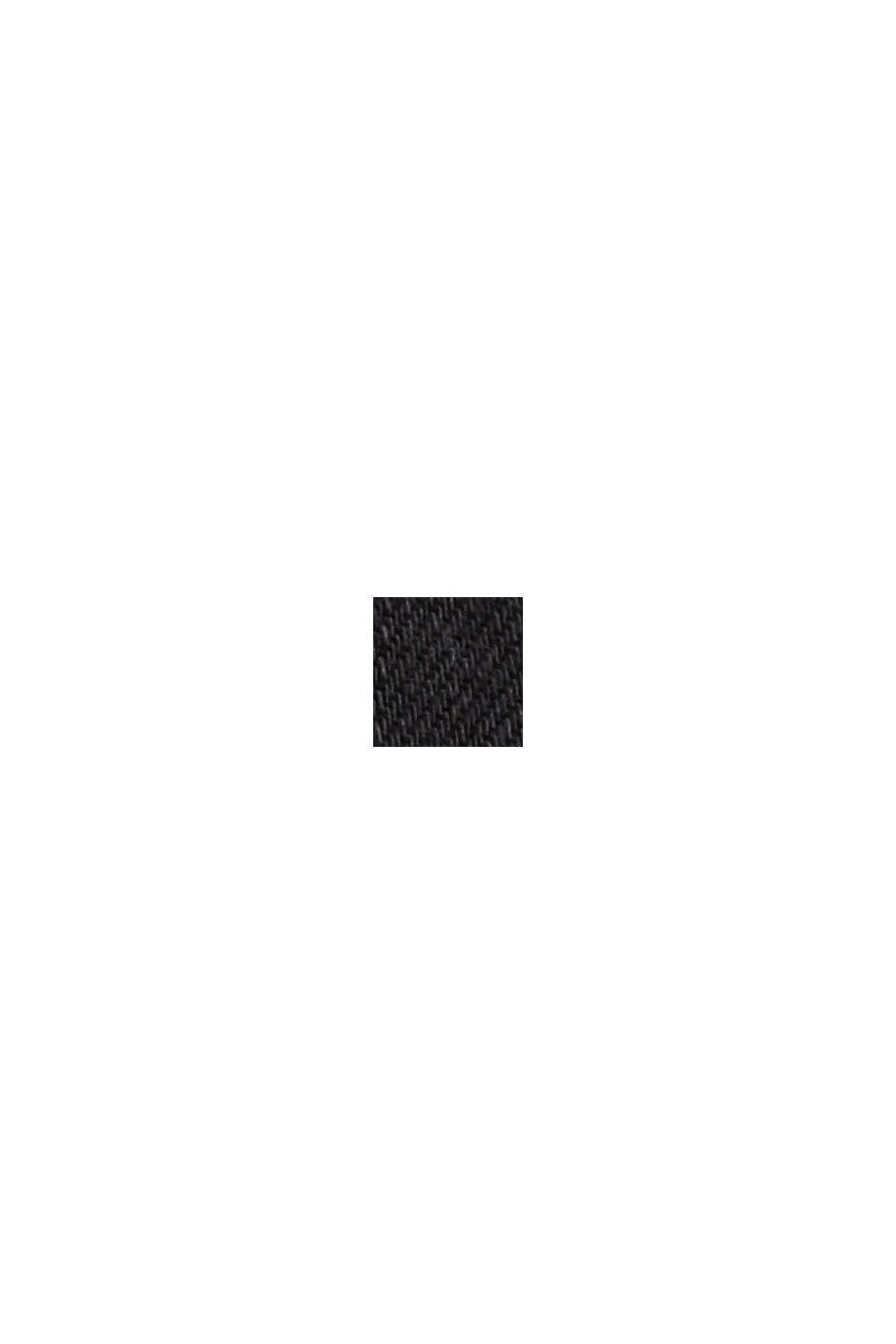 Stretchbukser med økologisk bomuld, BLACK, swatch