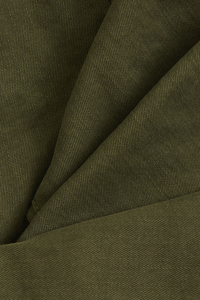 Stretch trousers with organic cotton, KHAKI GREEN, detail image number 4