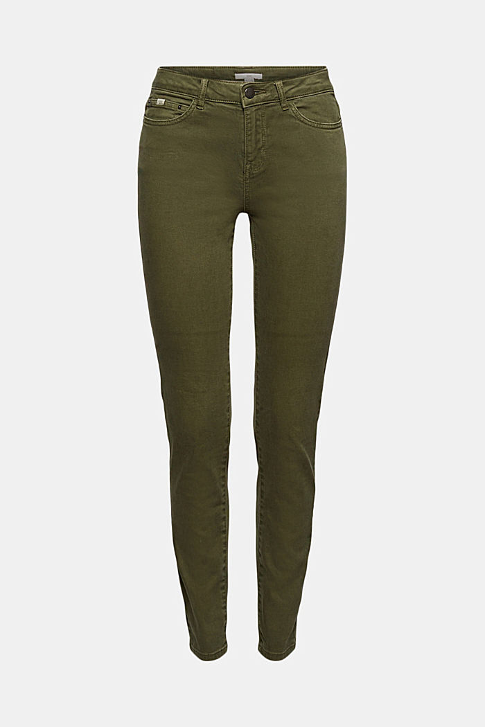 Stretch trousers with organic cotton