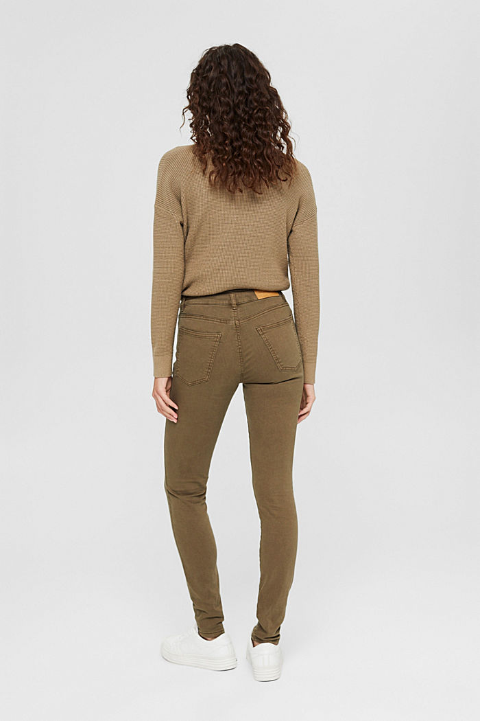 Stretch trousers with organic cotton, DARK KHAKI, detail image number 3