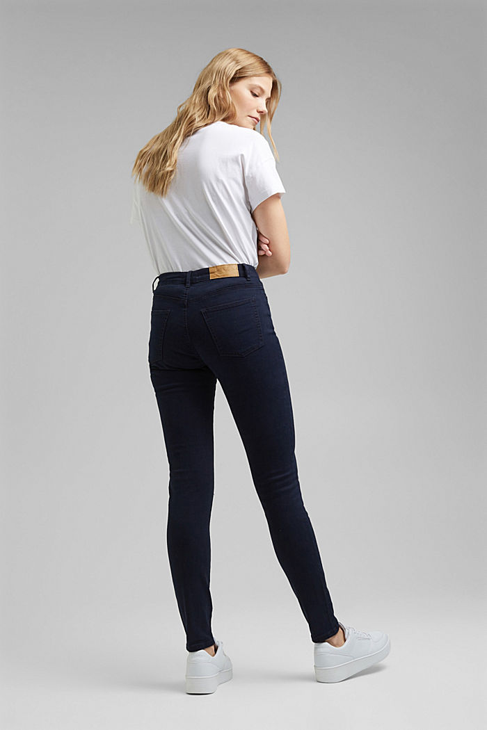 Stretch trousers with organic cotton, NAVY, detail image number 3