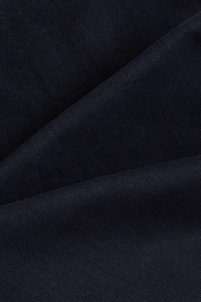 Stretch trousers with organic cotton, NAVY, detail image number 4