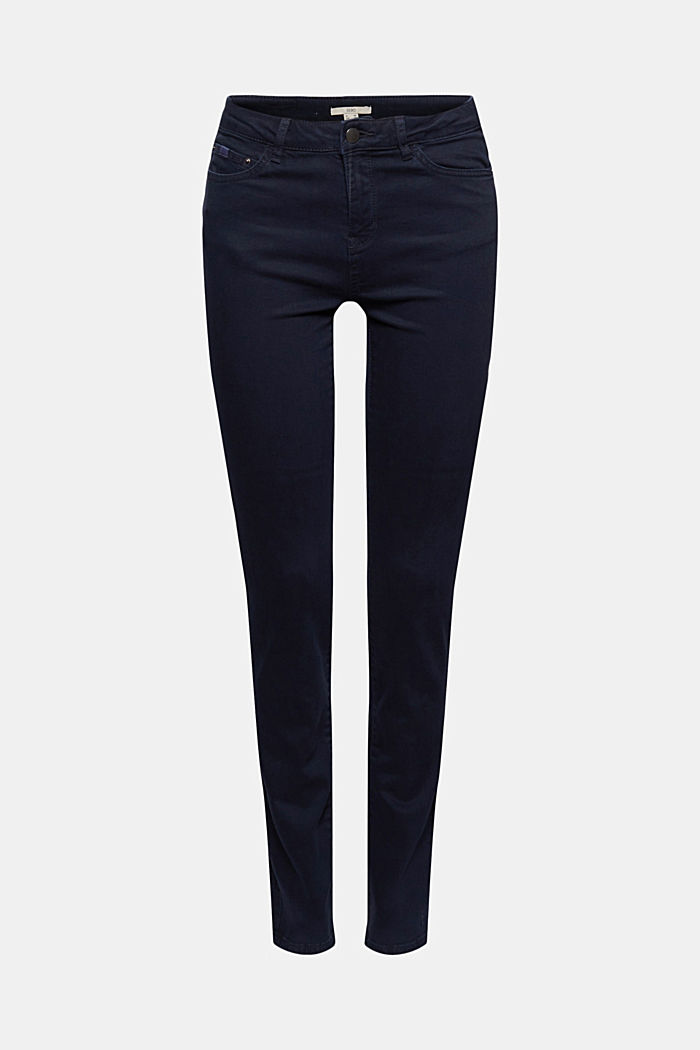 Stretch trousers with organic cotton, NAVY, detail image number 6