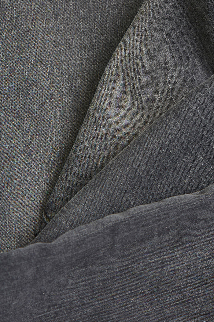 Stretch jeans with organic cotton, GREY MEDIUM WASHED, detail image number 4