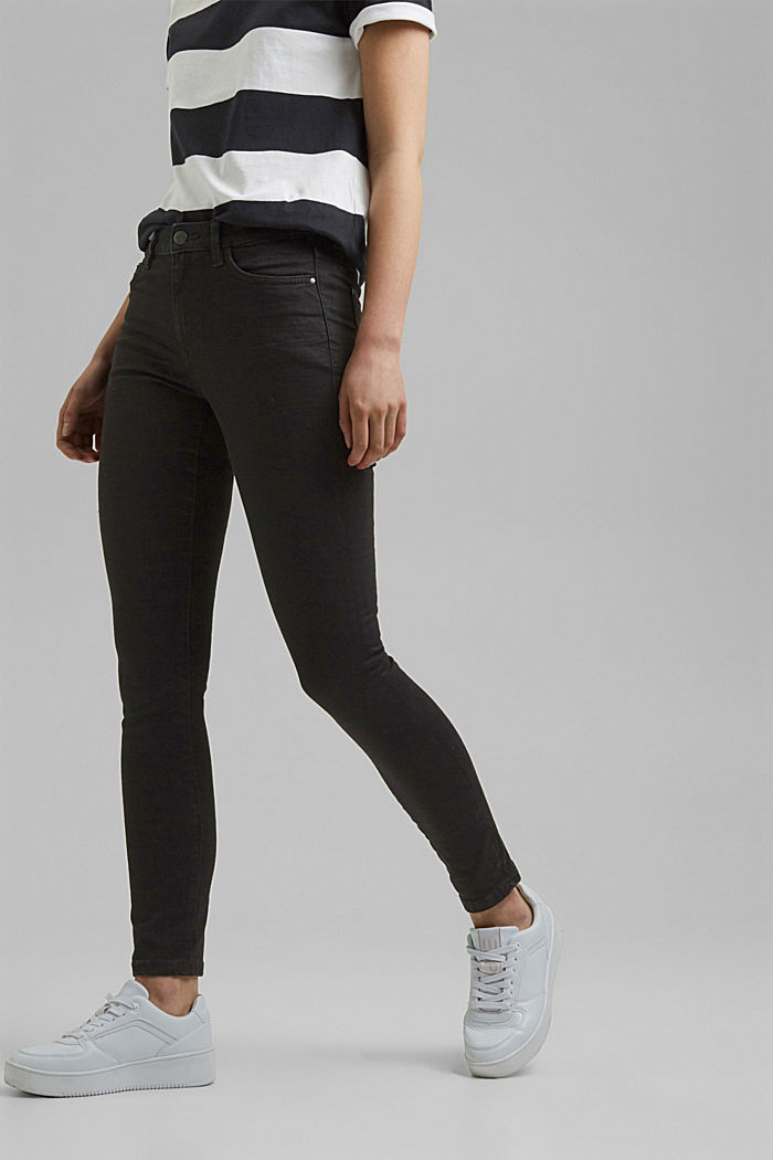 Stretch jeans with organic cotton, BLACK RINSE, overview