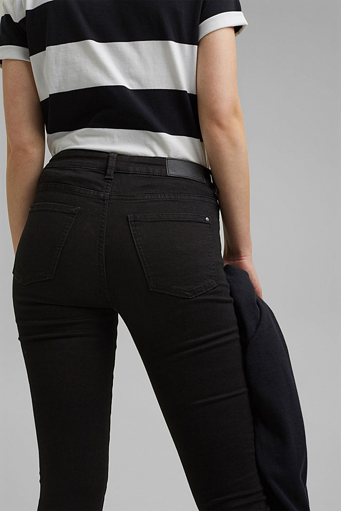 Stretch jeans with organic cotton, BLACK RINSE, detail image number 5