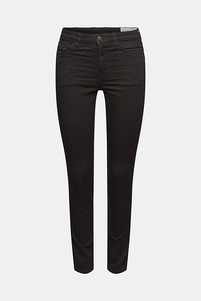 Stretch jeans with organic cotton, BLACK RINSE, detail image number 7