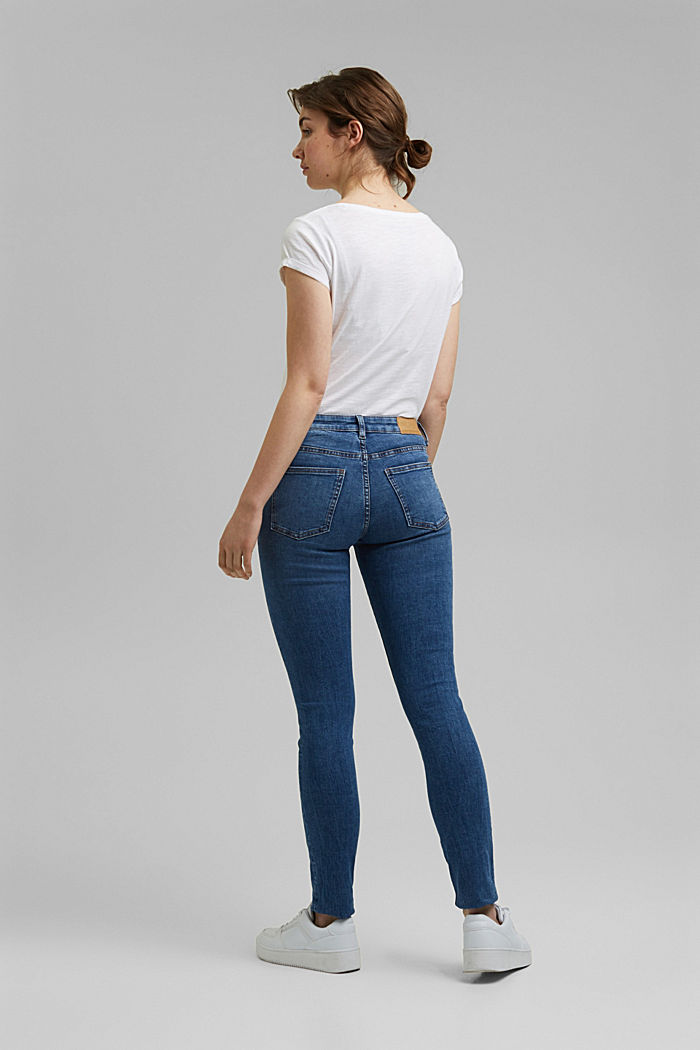 Stretch jeans with organic cotton, BLUE MEDIUM WASHED, detail image number 3