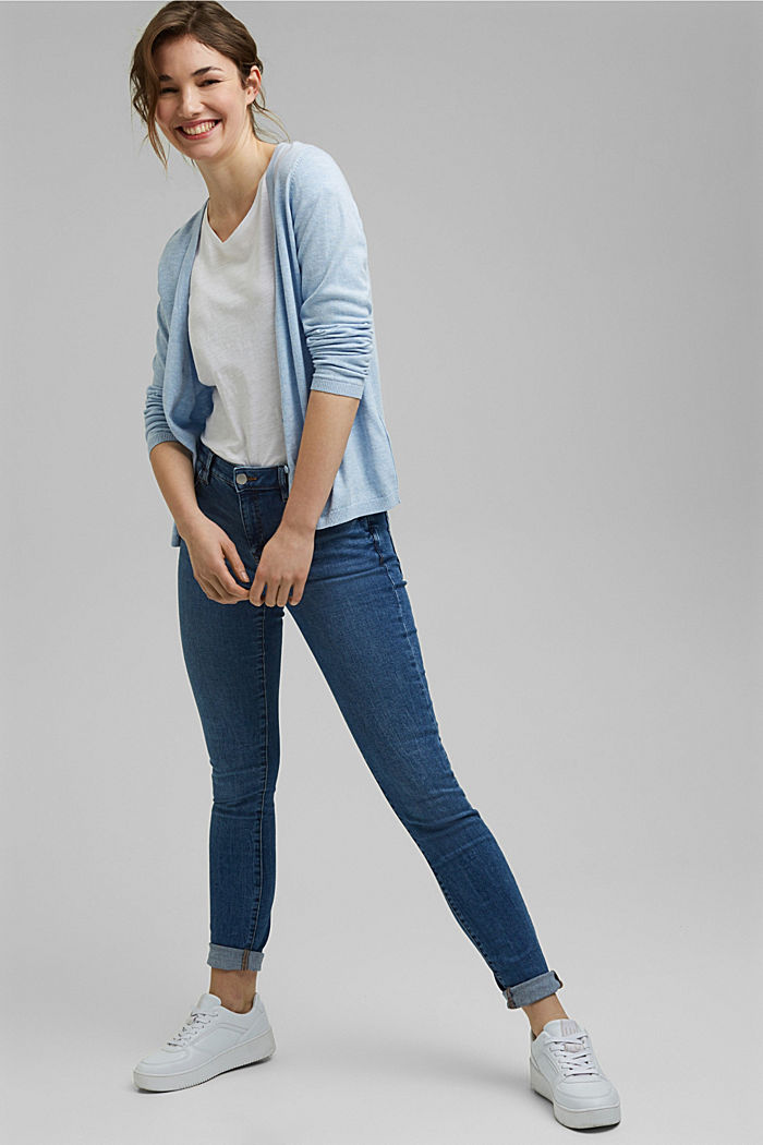 Stretch jeans with organic cotton, BLUE MEDIUM WASHED, detail image number 1