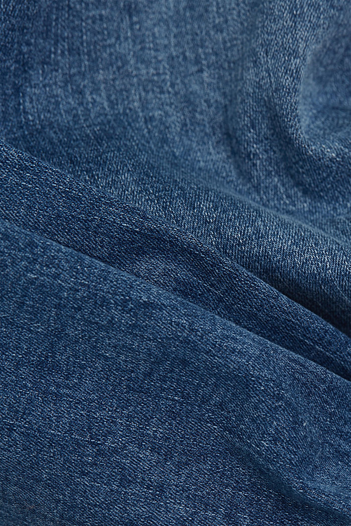 Stretch jeans with organic cotton, BLUE MEDIUM WASHED, detail image number 4