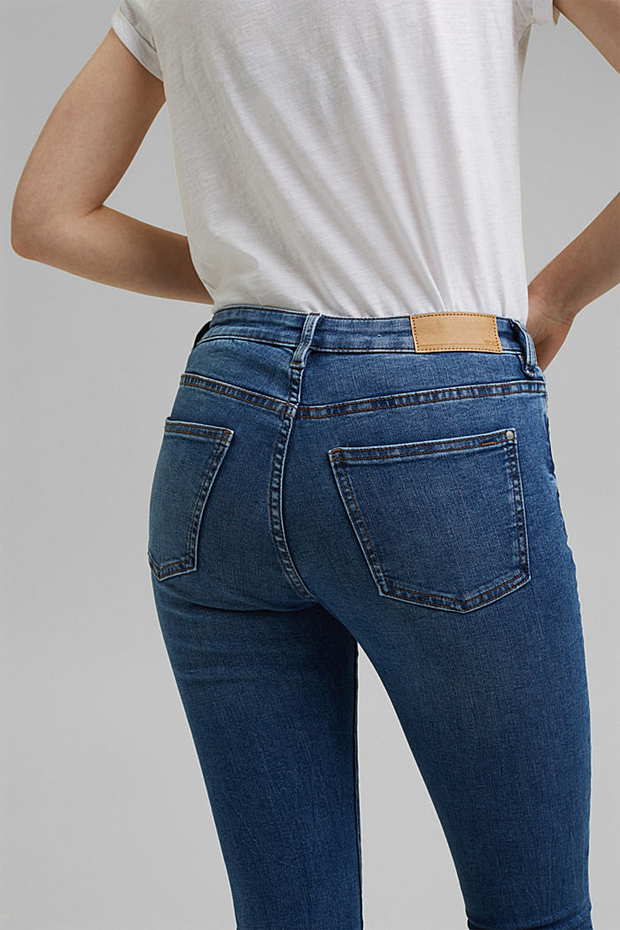 Stretch jeans with organic cotton, BLUE MEDIUM WASHED, detail image number 5