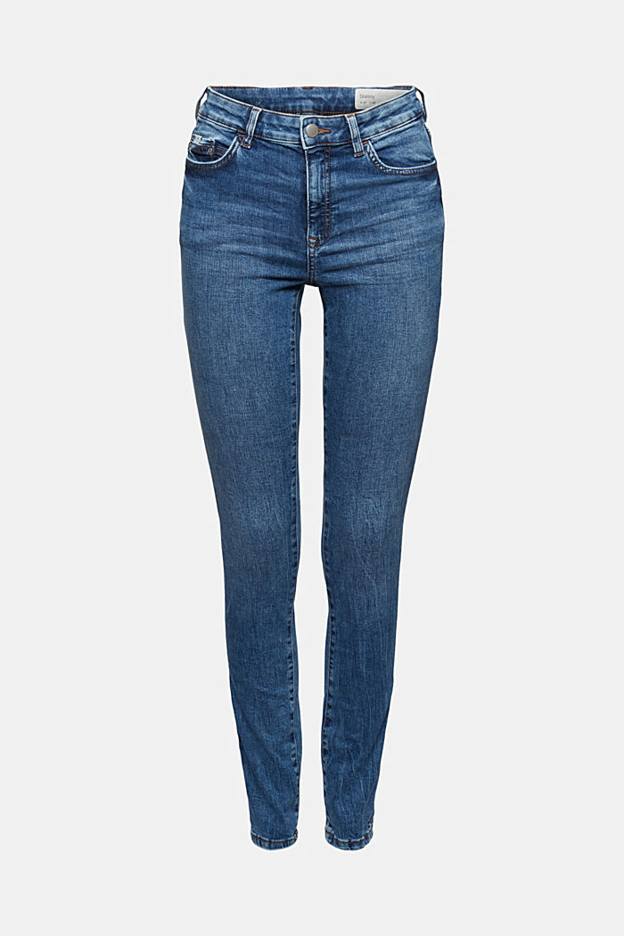 Stretch jeans with organic cotton, BLUE MEDIUM WASHED, detail image number 6