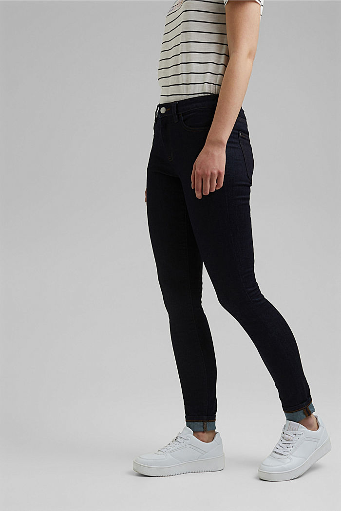 Stretch jeans with organic cotton, BLUE RINSE, detail image number 0