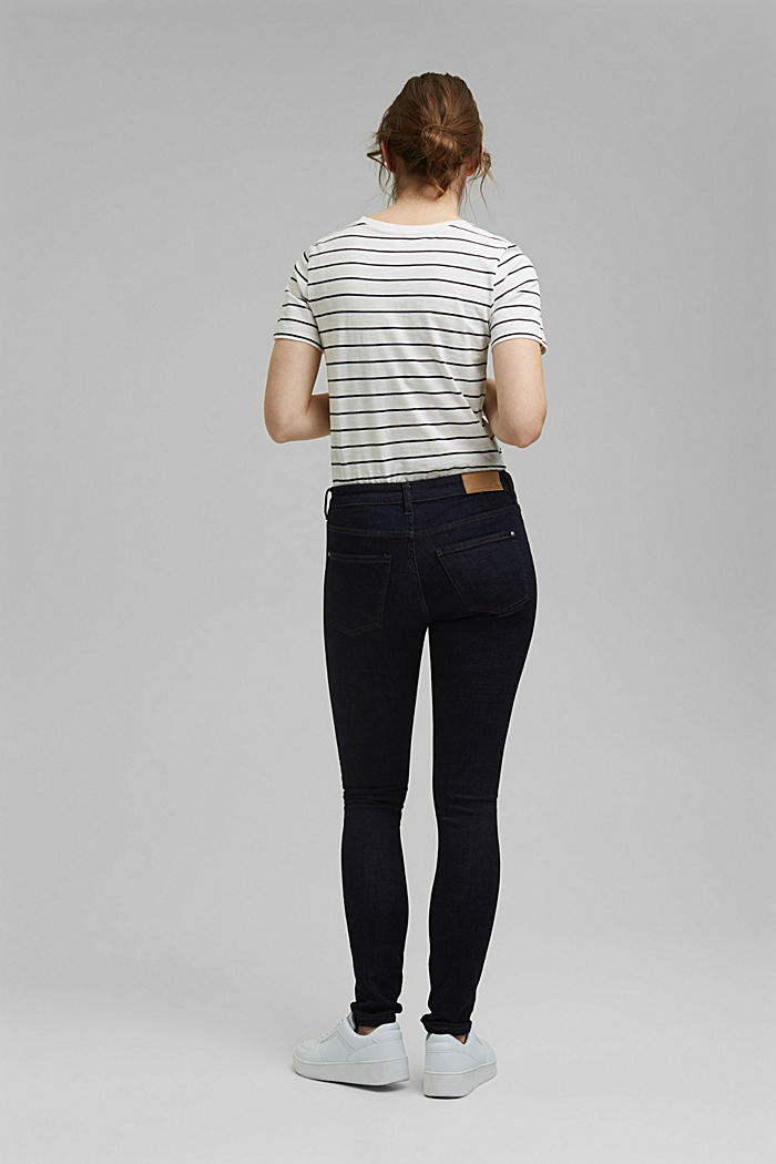 Stretch jeans with organic cotton, BLUE RINSE, detail image number 3