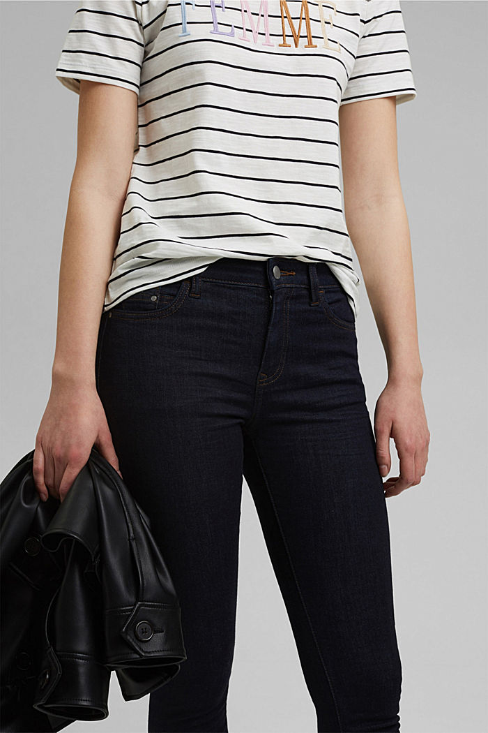 Stretch jeans with organic cotton, BLUE RINSE, detail image number 2