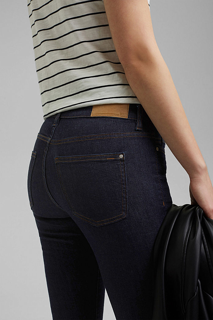 Stretch jeans with organic cotton, BLUE RINSE, detail image number 5