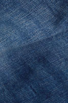 Denim shorts with vintage effects, BLUE MEDIUM WASH, detail