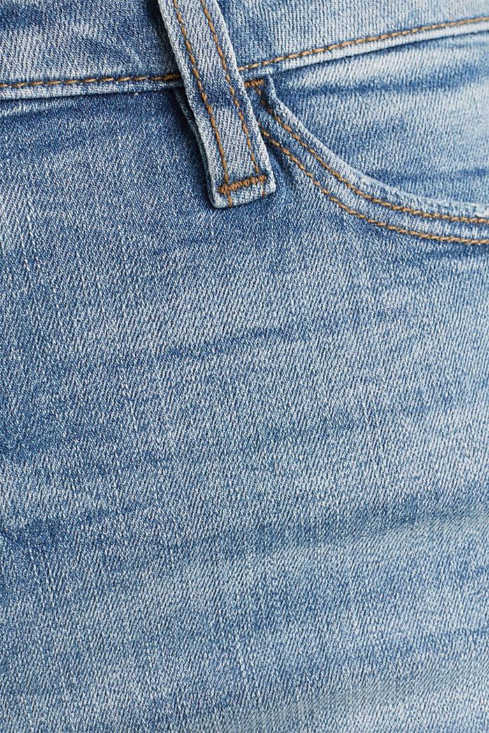 Denim shorts with vintage effects, BLUE LIGHT WASHED, detail image number 4