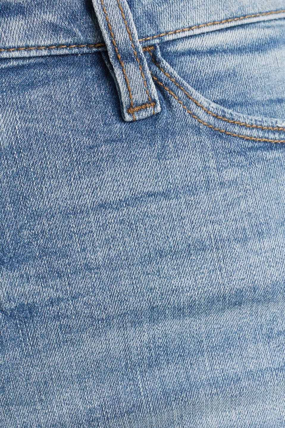 Denim shorts with vintage effects, BLUE LIGHT WASH, detail image number 4