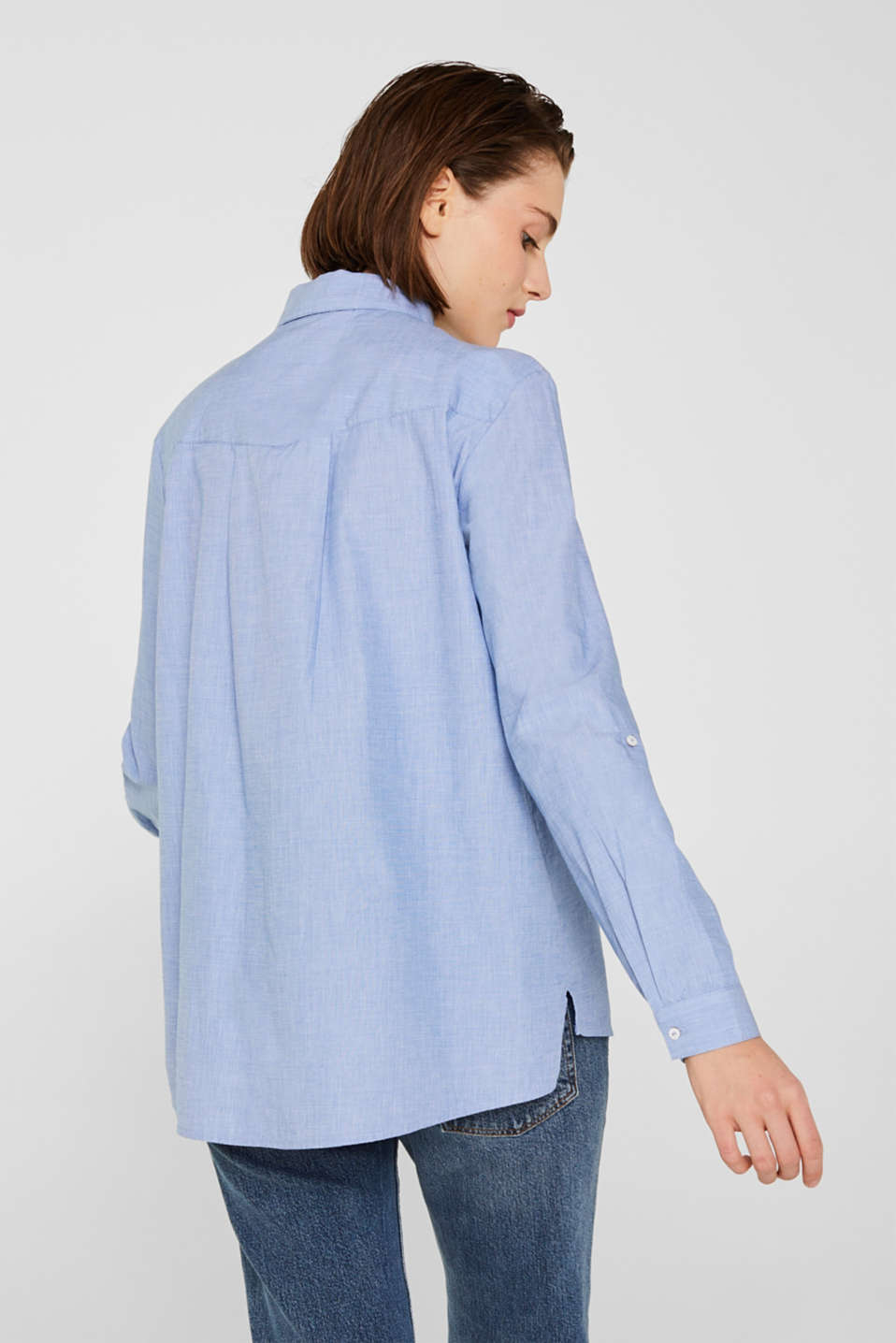 Blouses woven, LIGHT BLUE, detail image number 3